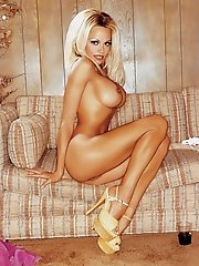 It takes a lot of woman to be larger than life—but that's Miss February 1990 Pamela Anderson. Bewtiching on Baywatch and a V.I.P. on V.I.P., she c